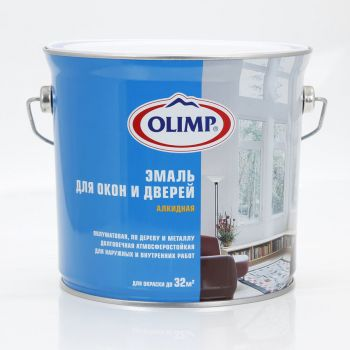 OLIMP Эмаль  для окон и дверей п/м база А (2,7л) [13834]