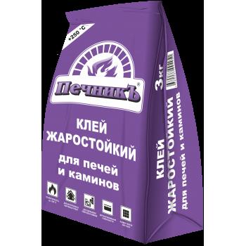"""Клей жаростойкий для бытовых печей и каминов """"Печникъ"""" (3кг) / упаковка - 6 шт."""